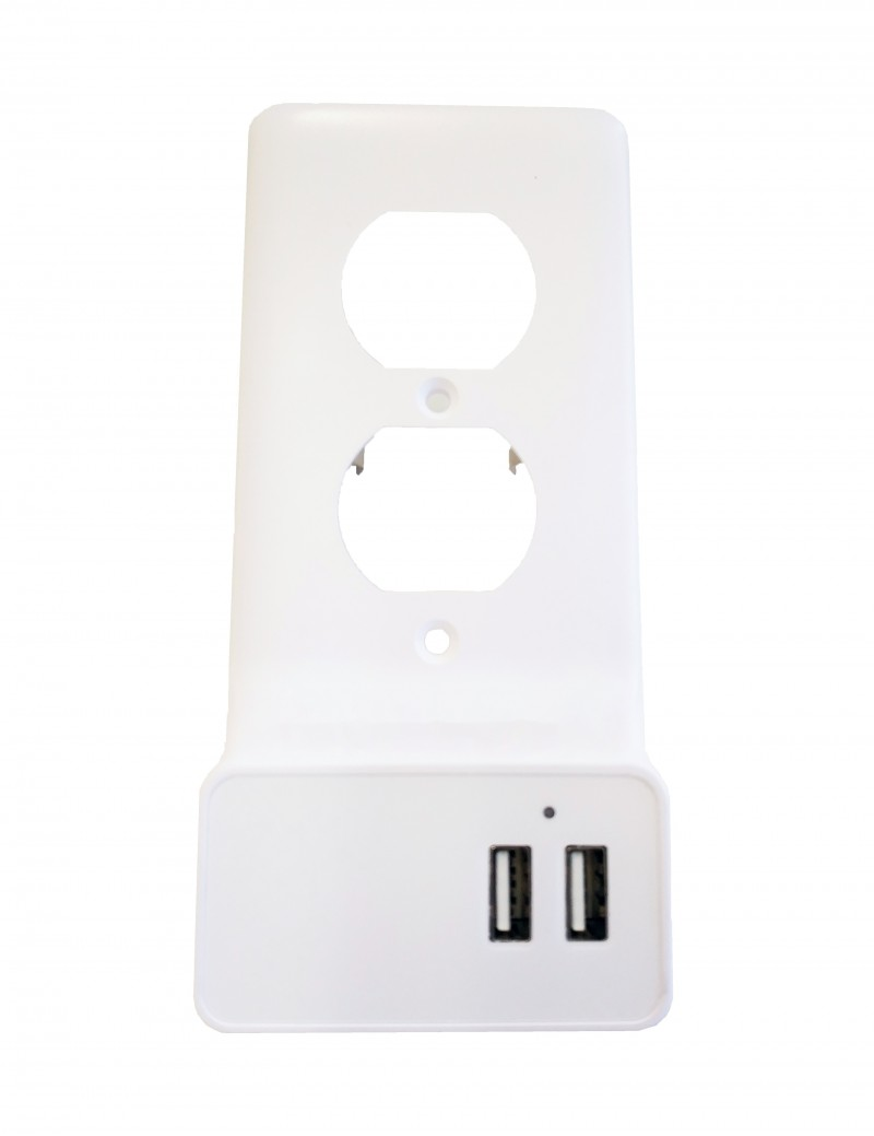Snap-On Smart Duplex Outlet Plate w/ 2 USB Ports