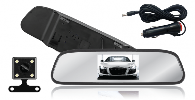 CT-MIR4C 4.3'' TFT LCD Color Rearview Mirror with IR Backup Camera