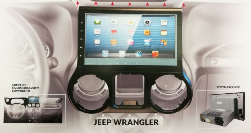 "2012-2015 Jeep Wrangler 10"" Touch Screen In-Dash"