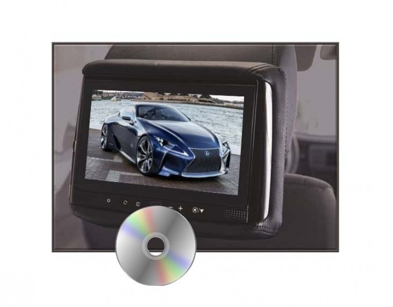 "RHD-906D - 9"" HD Rear Seat Entertainment w/ Build-in DVD Player Headrest"
