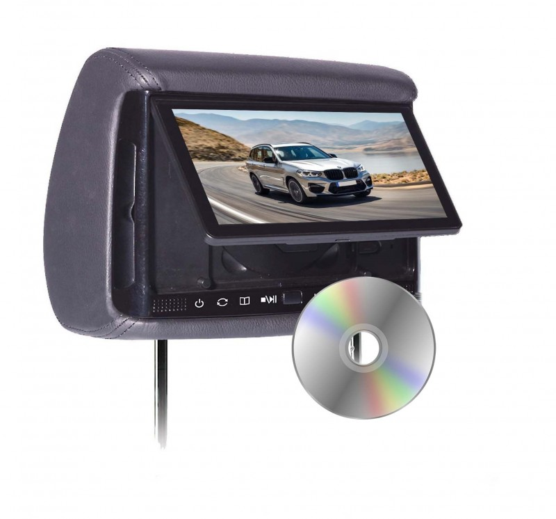 "BHD-906D - Chameleon 9"" HD Headrest w/ Build-in DVD Player"