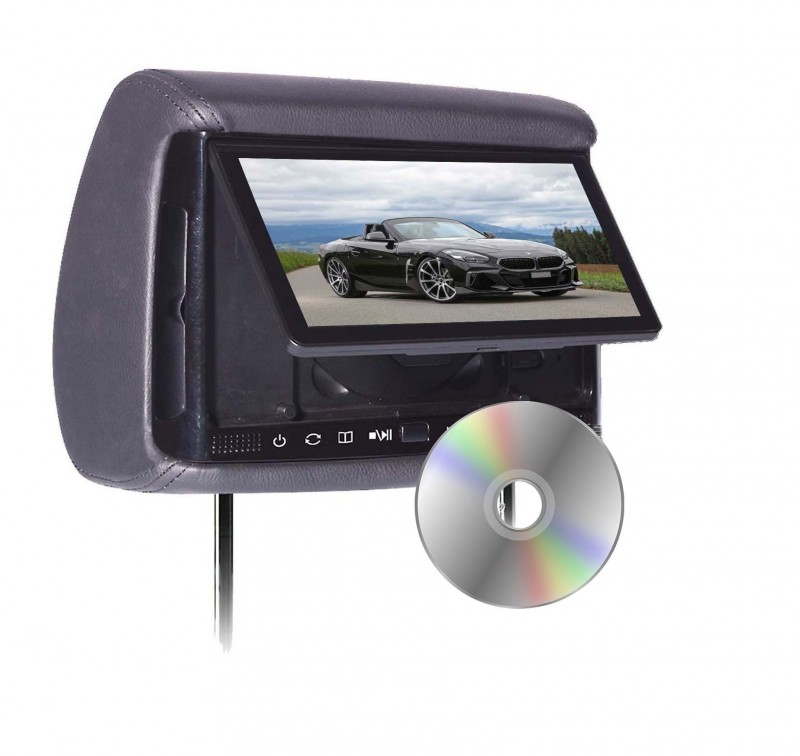 "BHD-706D - Chameleon 7"" HD Headrest w/ Build-in DVD Player"