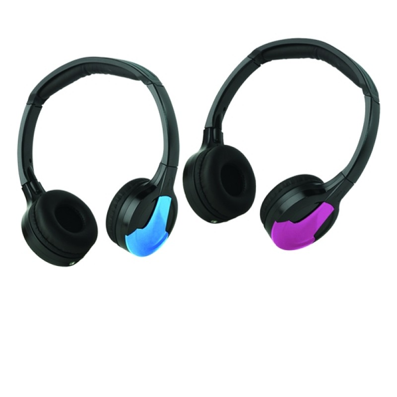 Dual Channel IR Headphones (Black, Blue, Pink)