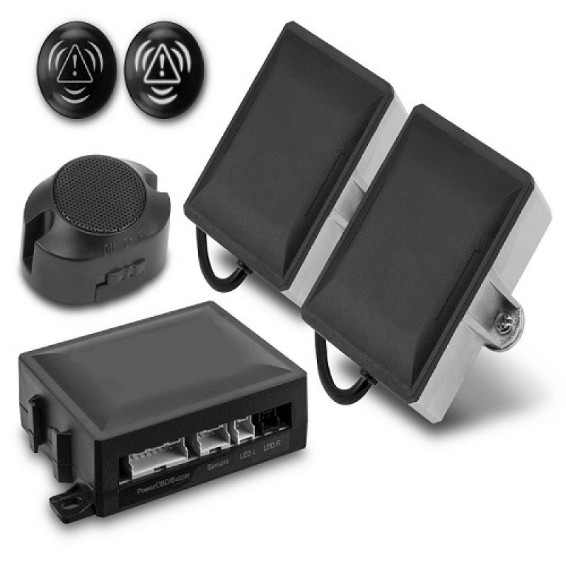 NS-BSM Blind Spot Anti-collision Detection & Warning Kit with OBD (Microwave Sensors)