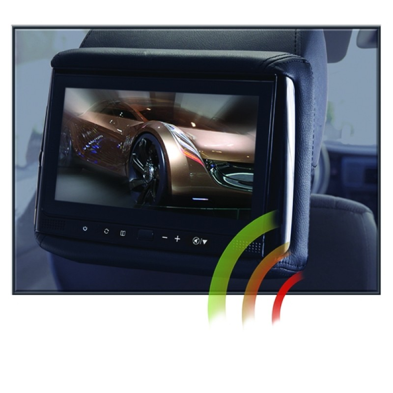 "RSS-905M - 9"" LCD Headrest w/ Wireless Screencasting"