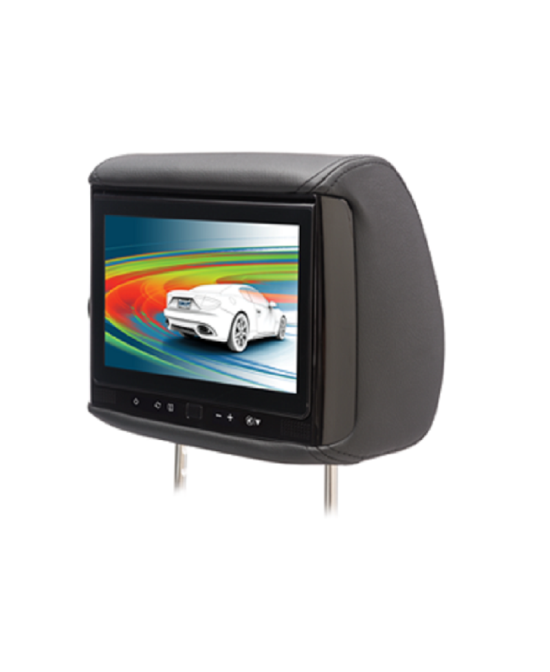 "BSS-905 - Chameleon 9"" LCD Headrest with 3 Color Covers"