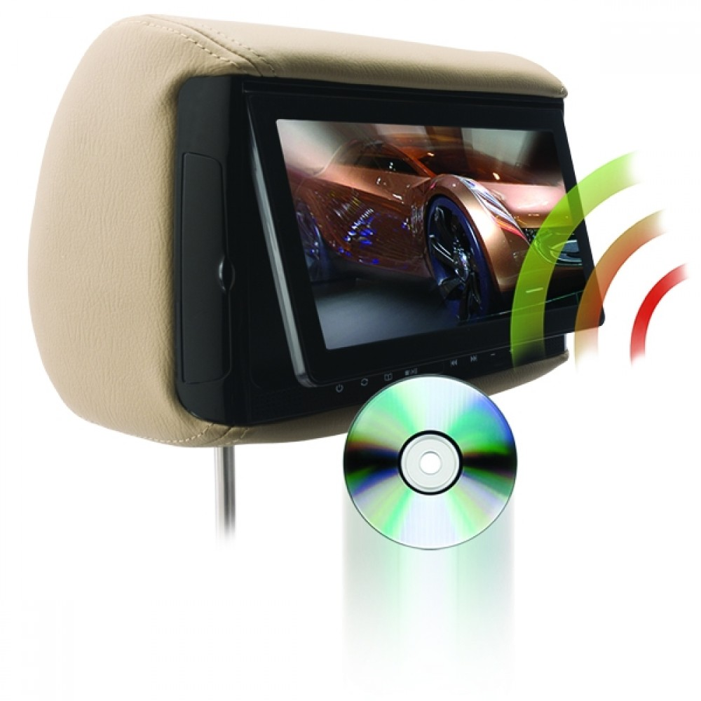 "BSD-905M - Chameleon 9"" LCD Headrest w/ Wireless Screencasting and Build-in DVD Player"