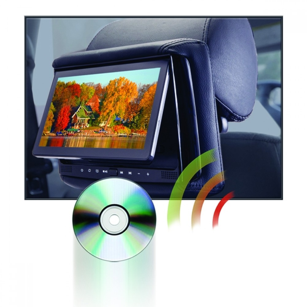 "RSD-905M - 9"" LCD Headrest w/ Wireless Screencasting and Build-in ..."