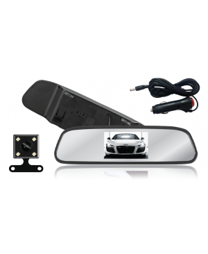 4.3'' TFT LCD Color Rearview Mirror with IR Backup Camera