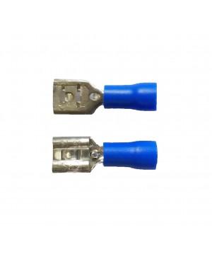 Blue 0.250'' Vinyl Female Disconnector  - 100 PCS