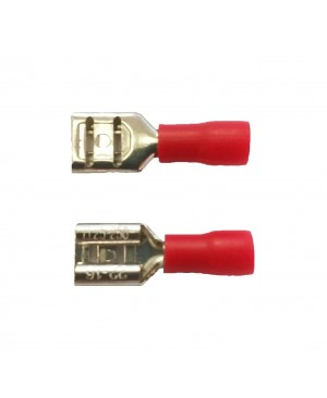 Red 0.250'' Vinyl Female Disconnector  - 100 PCS
