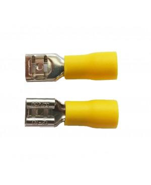 Yellow 0.250'' Vinyl Female Disconnector  - 100 PCS