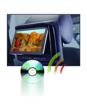 "RSD-905M - 9"" LCD Headrest w/ Wireless Screencasting and Build-in DVD Player"