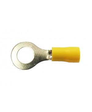 Yellow Vinyl 5/16' Hole Ring Terminal - 100 PCS